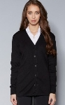 KNIT11 - Female Cardigan Black